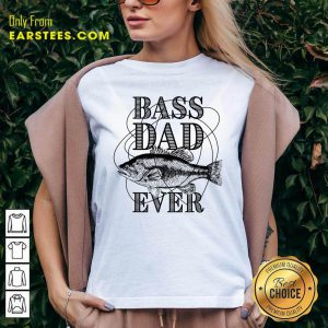 Bass Dad Ever Fishing Father's Day V-neck