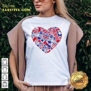 British Heart Poster V-neck