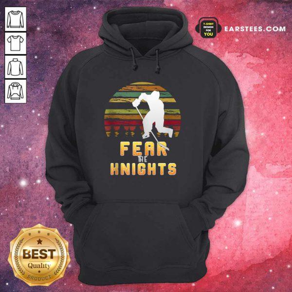 Goaltender Golden Ice Hockey Fear The Knight Vintage Hoodie