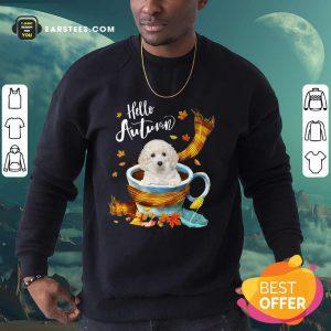 Hello Autumn White Toy Poodle Sweatshirt