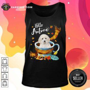 Hello Autumn White Toy Poodle Tank Top