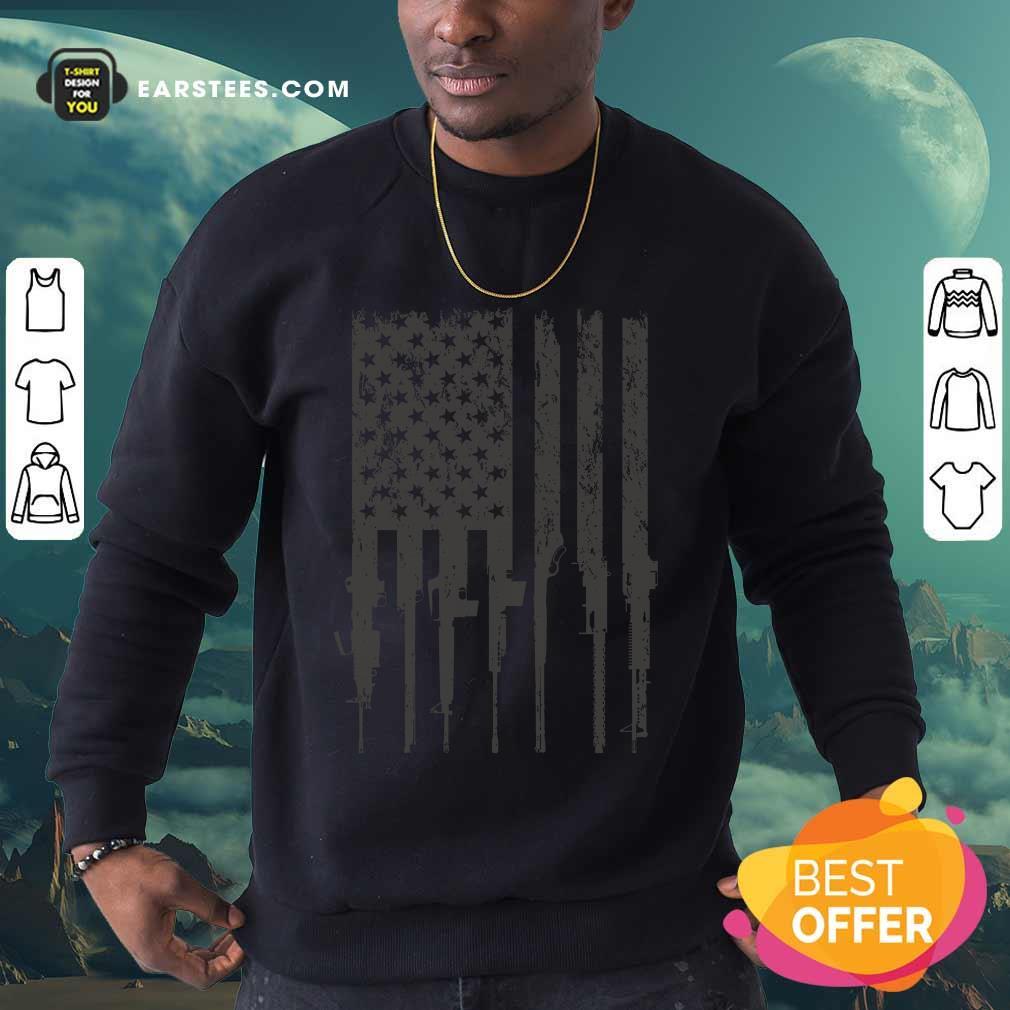 Hot Firearm Flag Black Sweatshirt