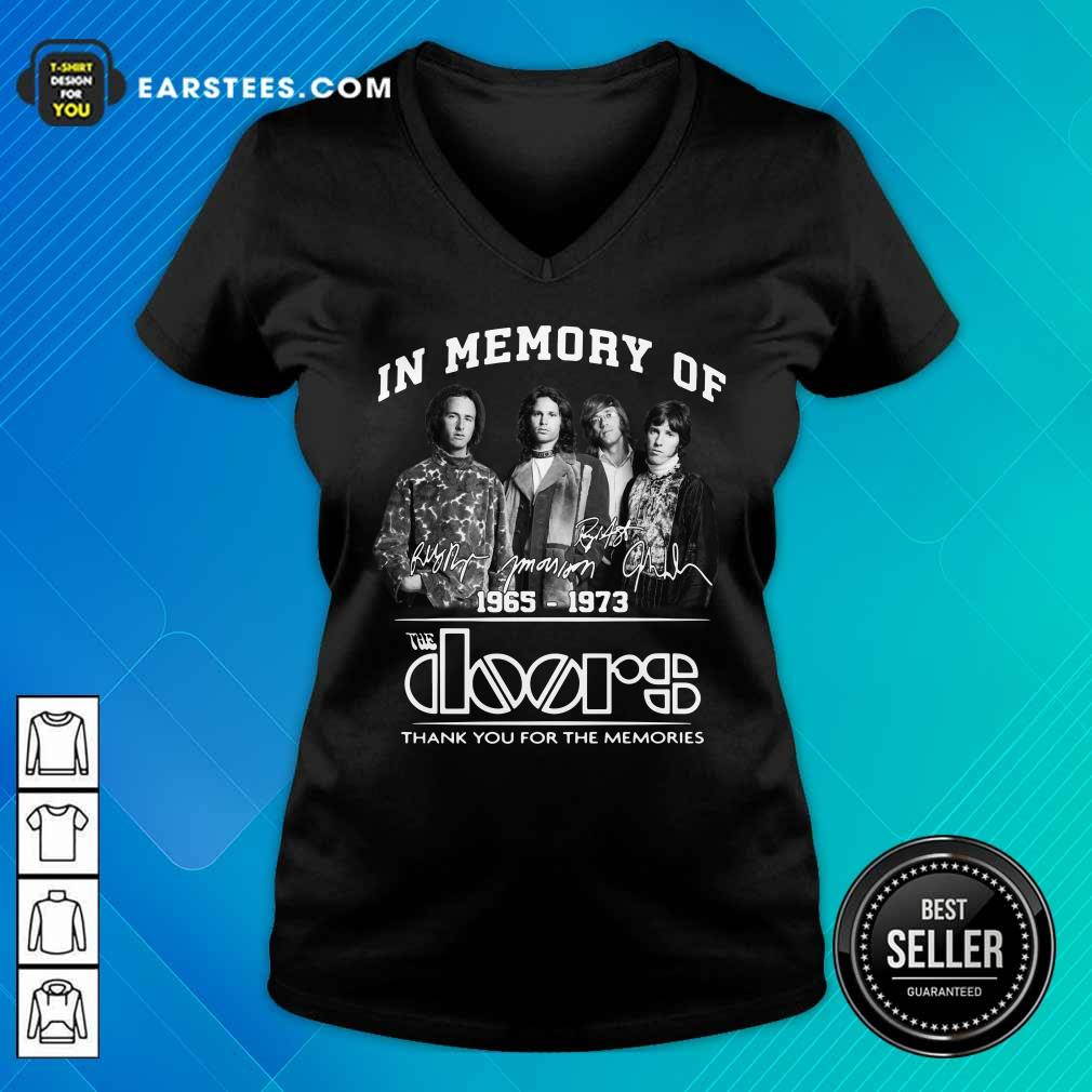 In Memory Of The Doors 1965-1973 Thank You For The Memories Signature V-neck