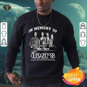 In Memory Of The Doors 1965-1973 Thank You For The Memories Signature Sweatshirt