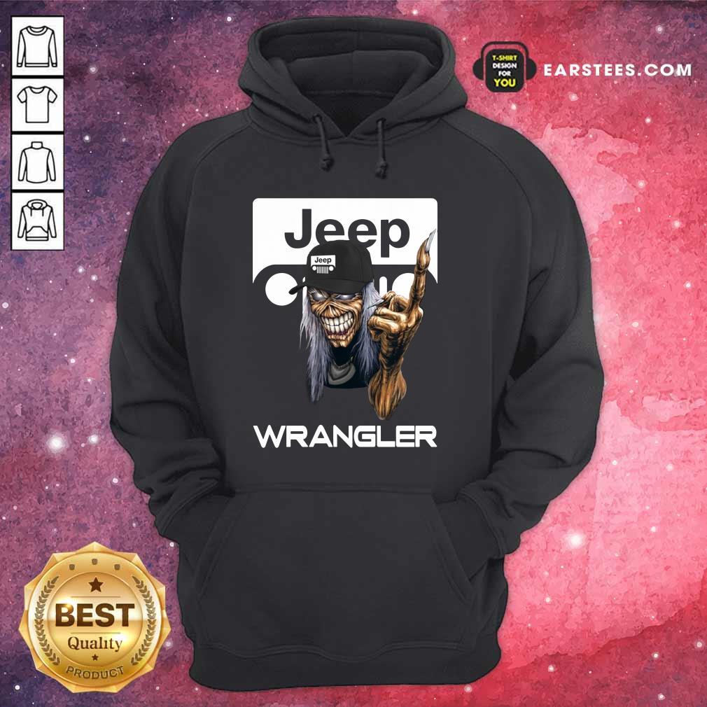 Iron Maiden Skull Hug Jeep Wrangler Logo Hoodie