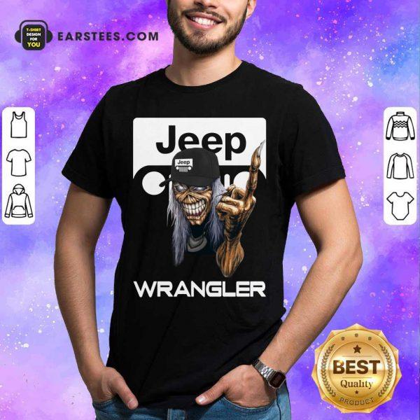 Iron Maiden Skull Hug Jeep Wrangler Logo Shirt