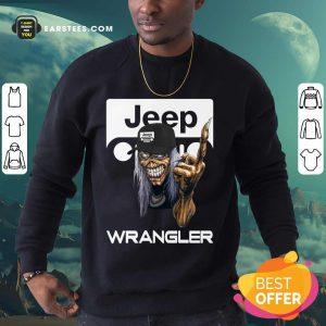 Iron Maiden Skull Hug Jeep Wrangler Logo Sweatshirt