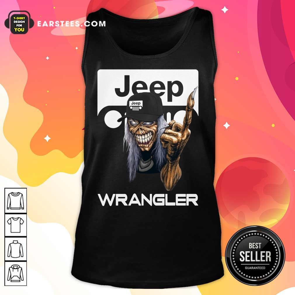 Iron Maiden Skull Hug Jeep Wrangler Logo Tank Top