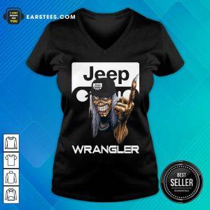 Iron Maiden Skull Hug Jeep Wrangler Logo V-neck