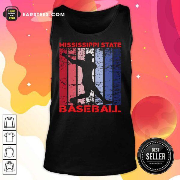 Mississippi State Baseball Vintage Tank Top