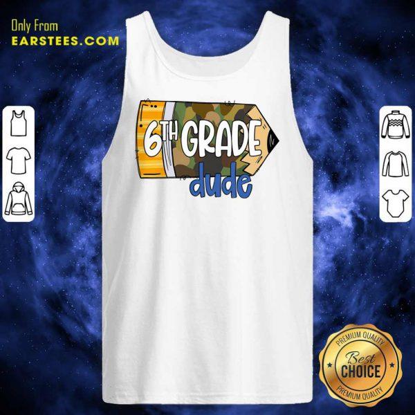 Pencil Camo 7th Grade Dude Tank Top