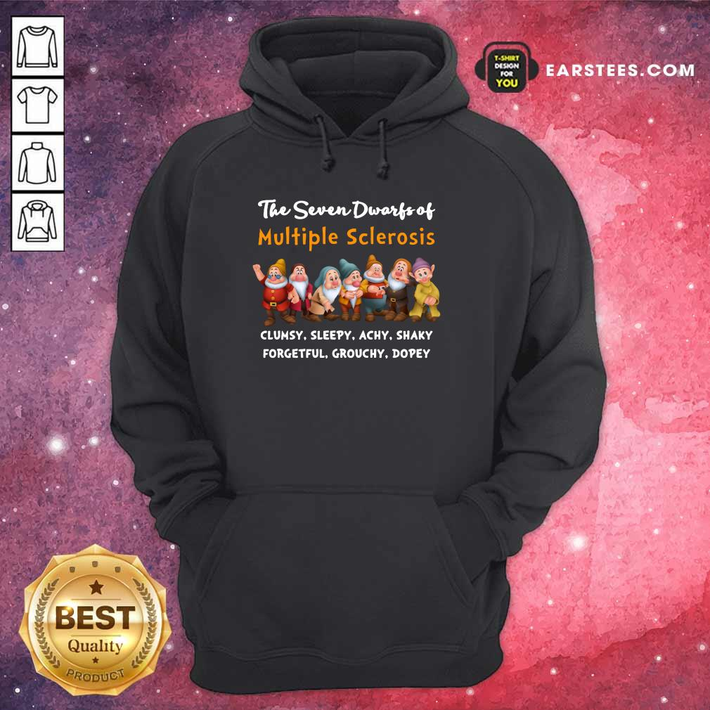 The Seven Dwarfs Of Multiple Sclerosis Clumsy Sleepy Achy Shaky Hoodie
